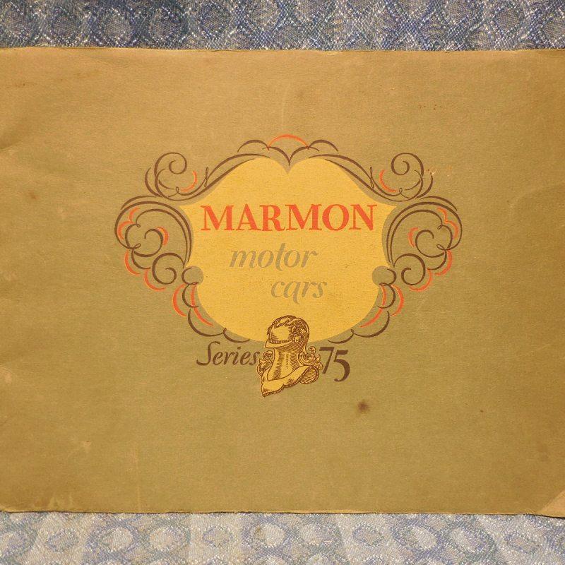 1927 Marmon Series 75 Original Sales Catalogue
