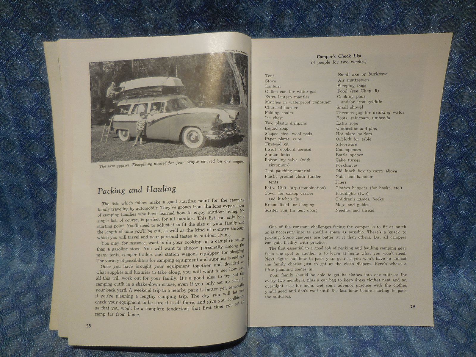 1960 Vacation Camping Book By Popular Mechanics Laycock Nos