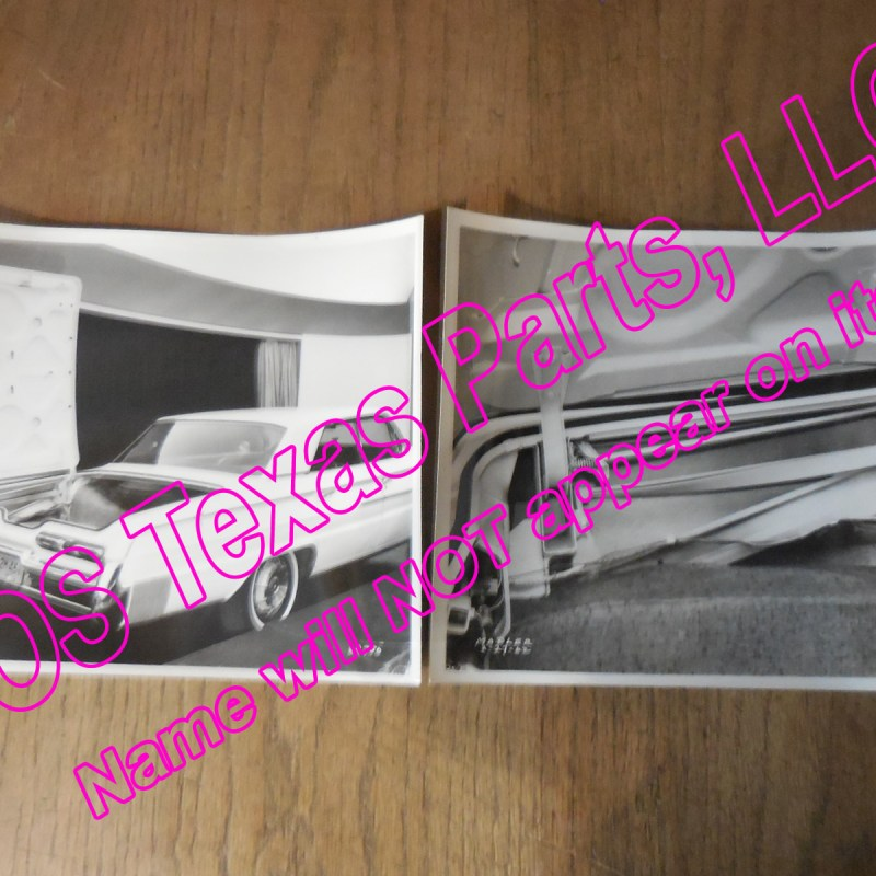 1962 Buick Electra 225 Original lot of 2 Experimental Photos - GM Tech Center