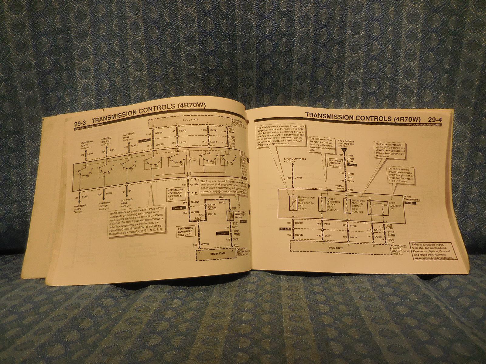1999 Ford Expedition Lincoln Navigator Original Oem Shop Wiring Diagrams Manual Nos Texas Parts Llc Antique Auto Parts