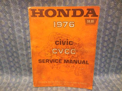 Original Factory Shop / Service Manual Covering 1976 Honda Civic CVCC