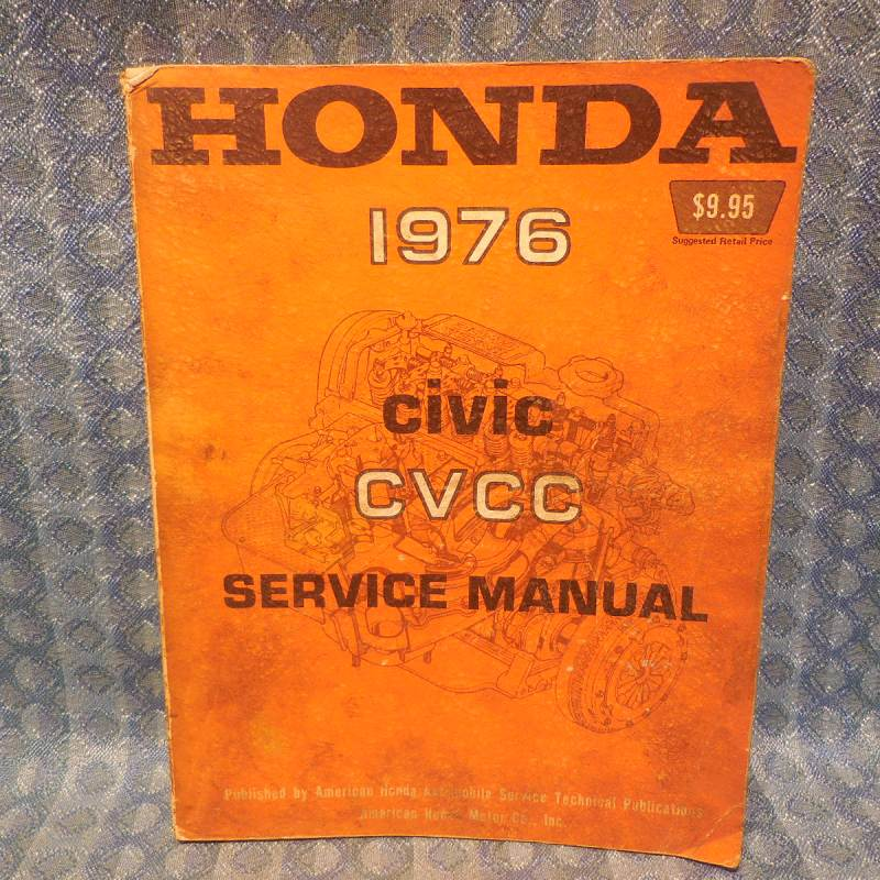 Original Factory Shop / Service Manual Covering 1976 Honda Civic CVCC