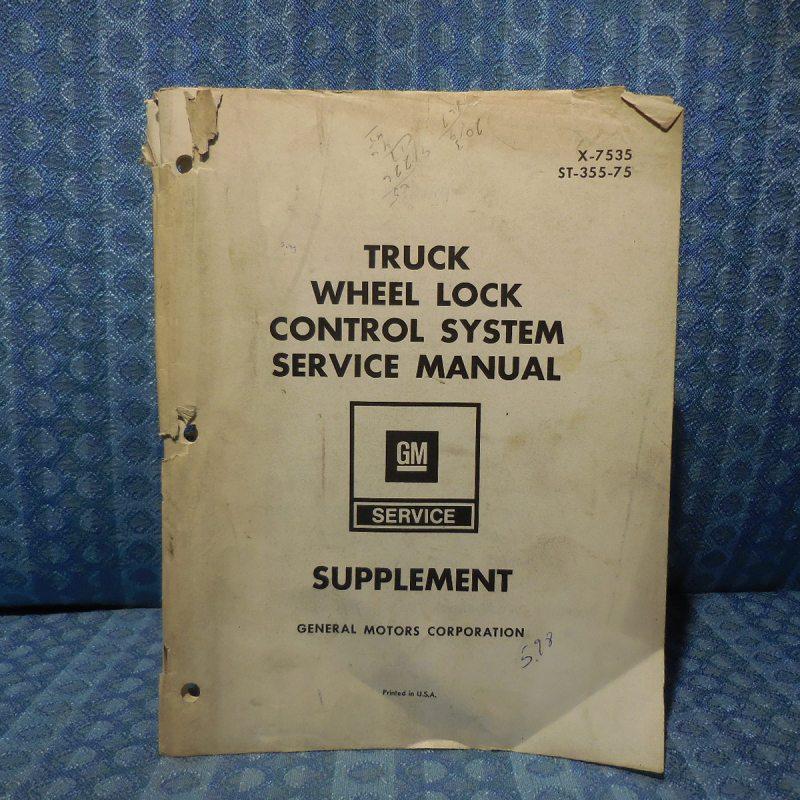 1973-1975 GMC Truck Medium & Heavy Duty Wheel Lock Control System Service Manual