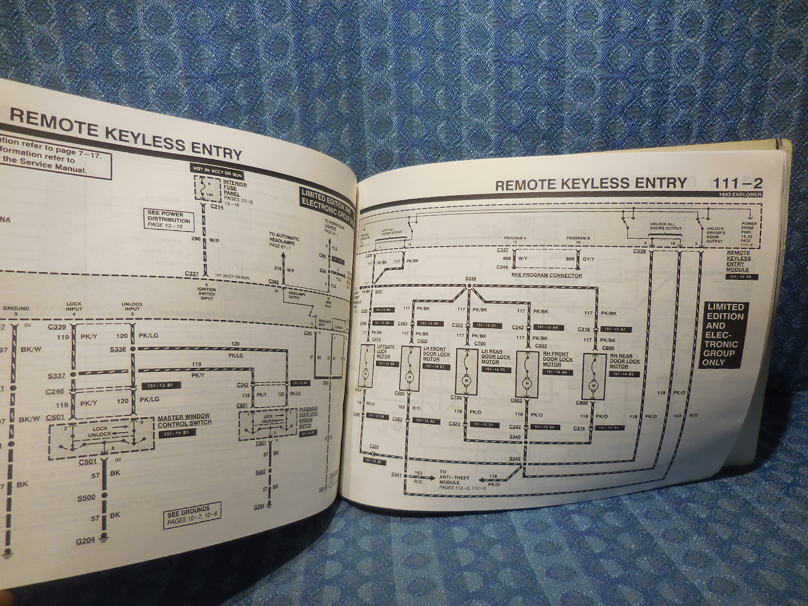 1993 Ford Explorer Oem Electrical Vacuum Troubleshooting Manual Door Lock Schematic