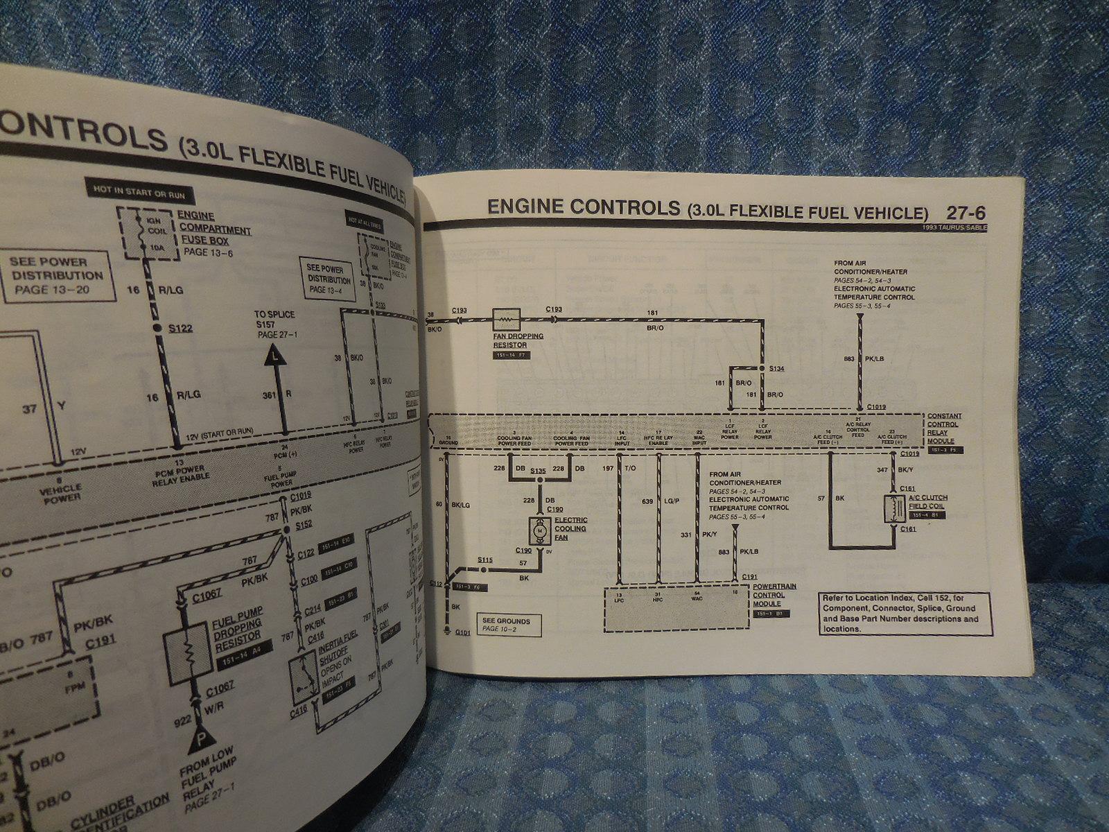 1993 Ford Taurus Mercury Sable Oem Electrical  U0026 Vacuum