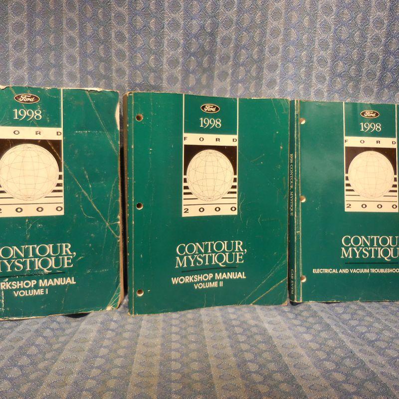 1998 Ford Contour Mercury Mystique OEM Original Workshop Manual 3 Volume Set