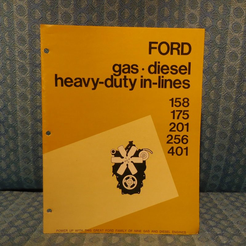 Ford Industrial Power Products Gas Diesel In-Line Engine Original Sales Brochure