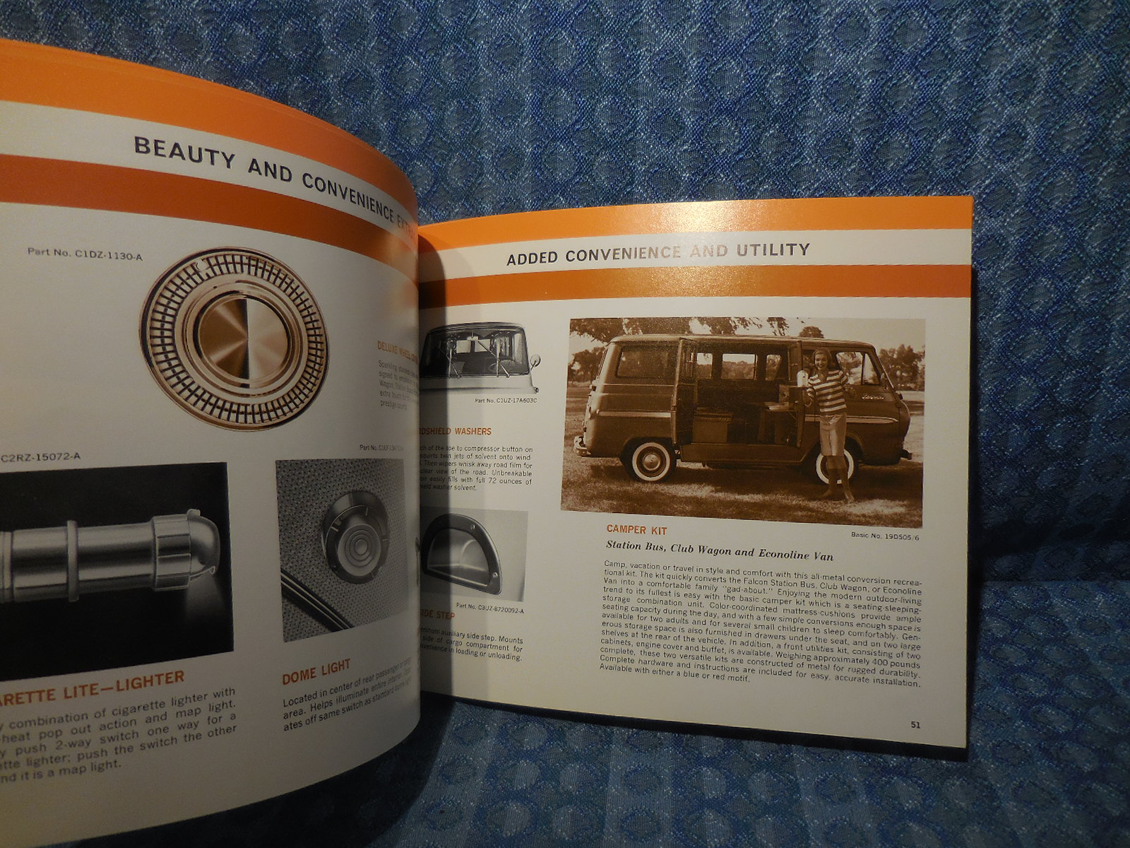 1964 Ford Dealer Showroom Accessory Selector Facts Book Thunderbird Pickup F250 Camper Special