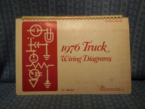 1976 Ford Truck OEM Wiring Diagrams Bronco, Pickup, Courier F-B-C-L-W-Series