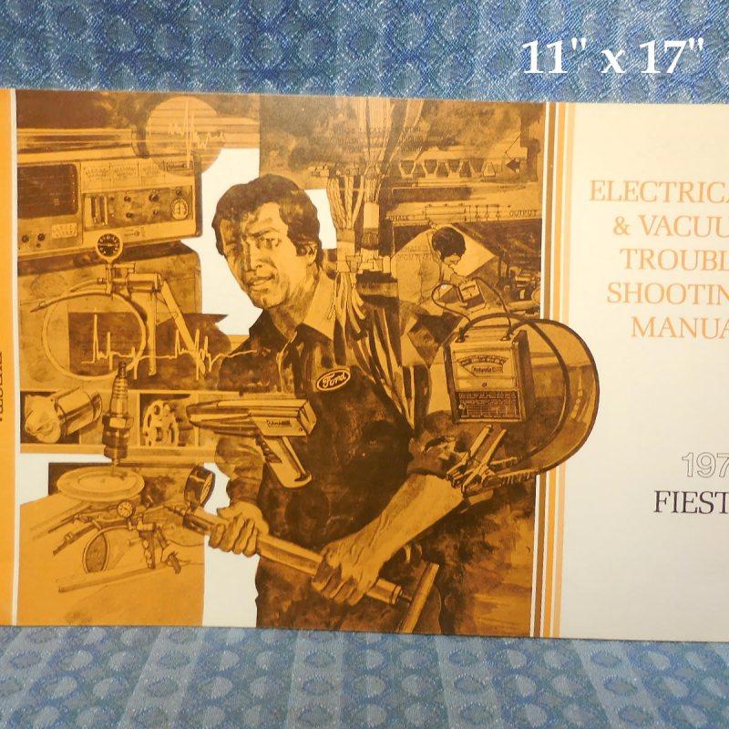 1979 Ford Fiesta Electrical & Vacuum Trouble Shooting Manual