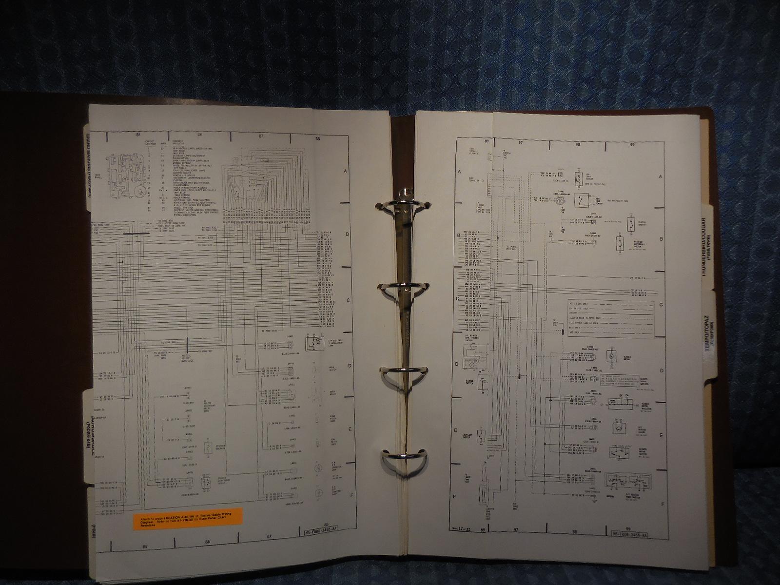 1990 Ford Lincoln Mercury Oem Wiring  U0026 Vacuum Diagrams