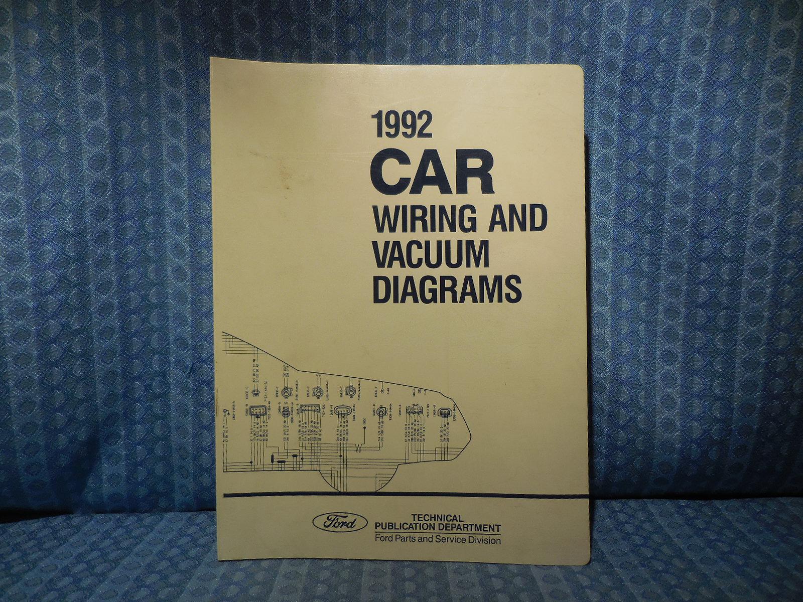 1992 Ford Lincoln Mercury Oem Wiring  U0026 Vacuum Diagrams