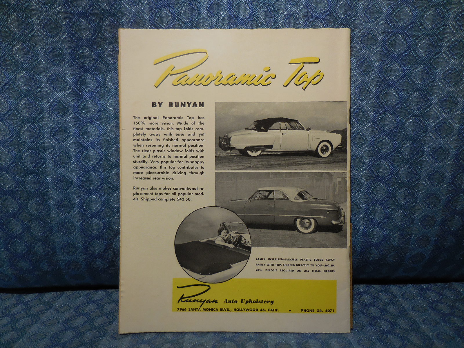January 1951 Motor Trend Magazine Original Vol 3 1 Ford O Matic Automatic Transmission Power Steering Brakes And A