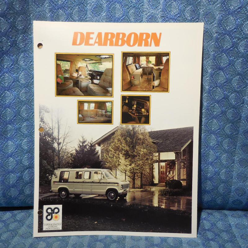 1979 Ford Van Conversion Dearborn by Consolidated Original Sales Brochure
