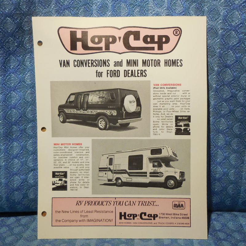 1979 Ford Van Conversion & Mini Motorhome by Hop-Cap Original Sales Brochure