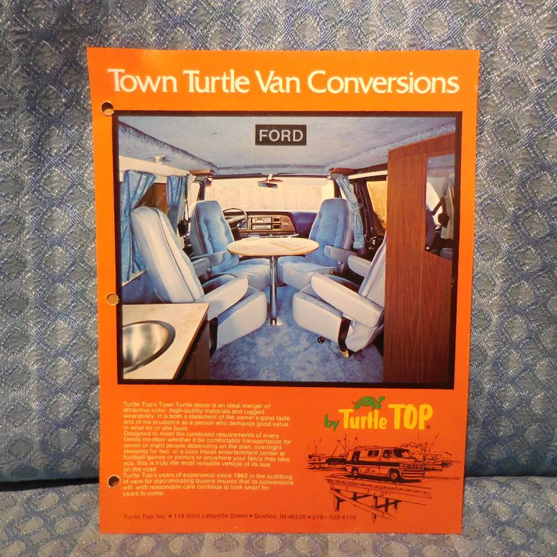 1979 Ford Van Conversion Turtle Top Original Sales Brochure