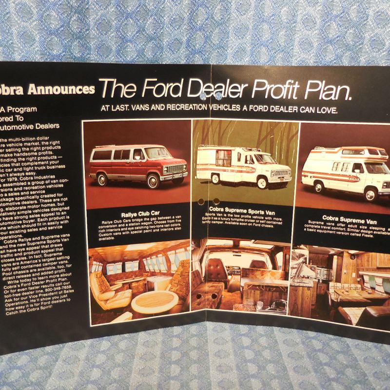 1979 Ford Van Conversion by Cobra Industries Original Sales Brochure