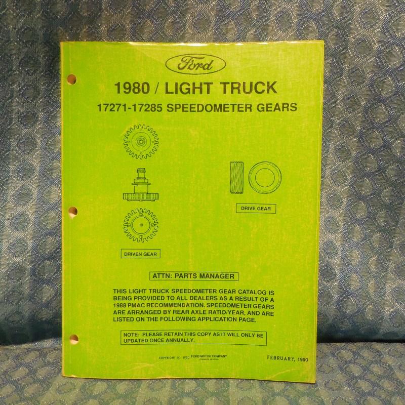 1980-1990 Ford Light Duty Truck Original Speedometer Gears Catalog 82 84 86 88