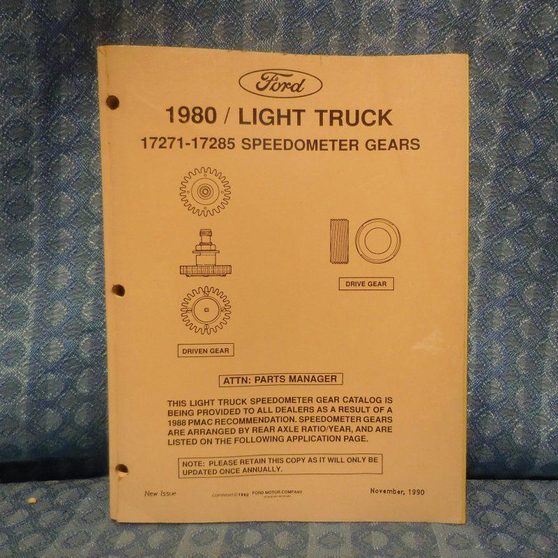 1980-1991 Ford Light Duty Truck Original Speedometer Gears Catalog 82 84 86 88