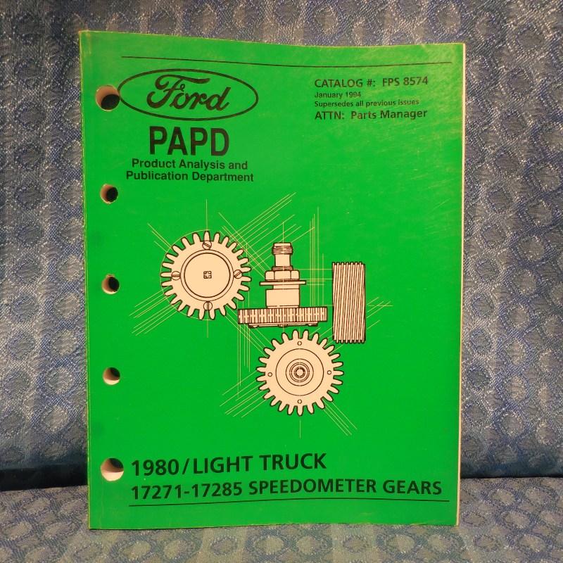 1980-1994 Ford Light Duty Truck Original Speedometer Gears Catalog 83 87 92 93
