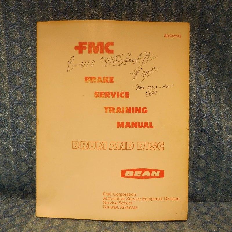 1973 Bean Original Brake Service Training Manual Drum & Disc