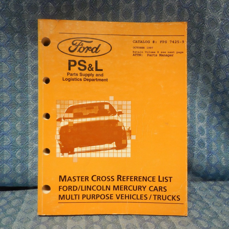 1994-1997 Ford Lincoln Mercury Truck Master Cross Reference List Manual Volume 9