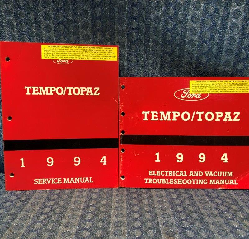 1994 Ford Tempo / Topaz OEM Service + Troubleshooting Manuals 2 Volume Set