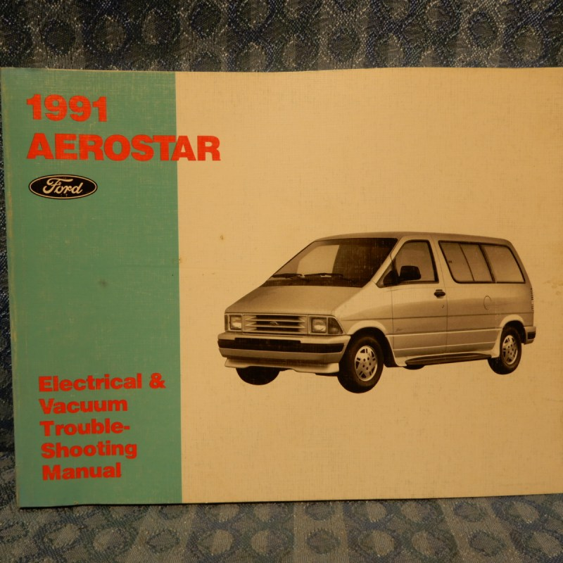 1991 Ford Aerostar OEM Electrical & Vacuum Troubleshooting Manual