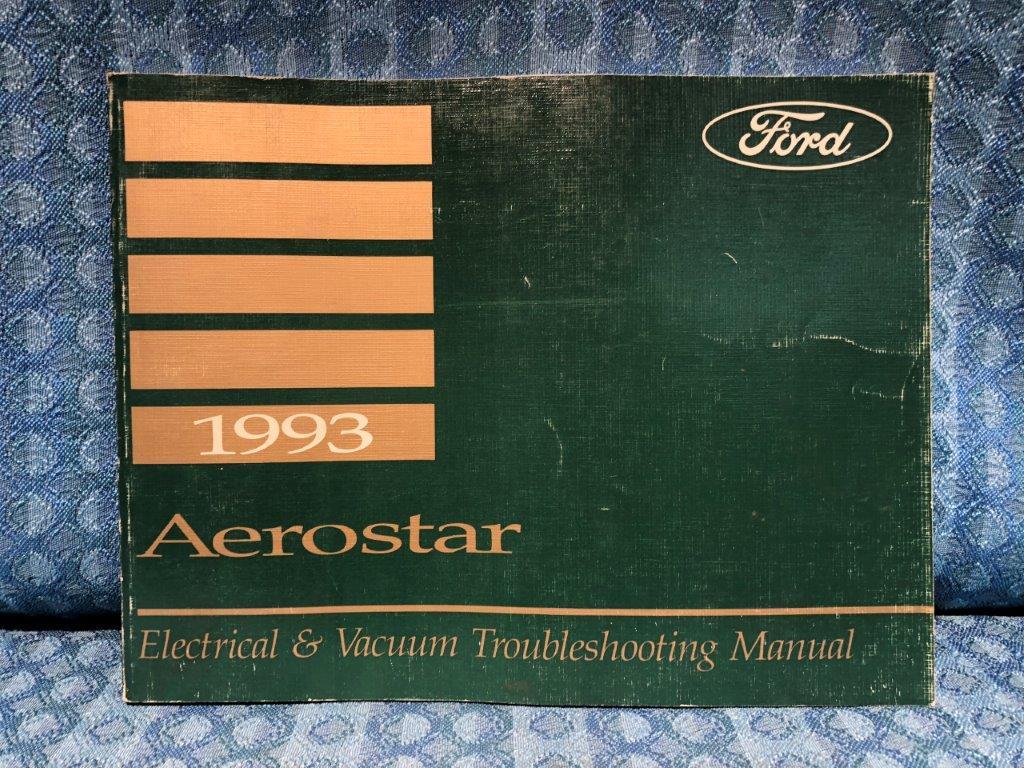 1993 ford aerostar oem electrical \u0026 vacuum troubleshooting manual1993 ford aerostar oem electrical \u0026 vacuum troubleshooting manual