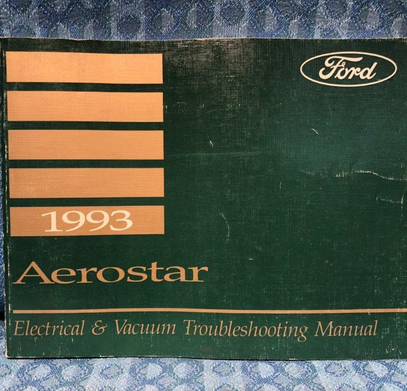 1993 Ford Aerostar OEM Electrical & Vacuum Troubleshooting Manual