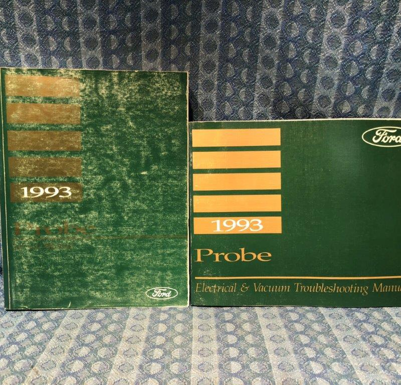 1993 Ford Probe OEM Service + Electrical / VAC Troubleshooting Manuals 2 Vol Set
