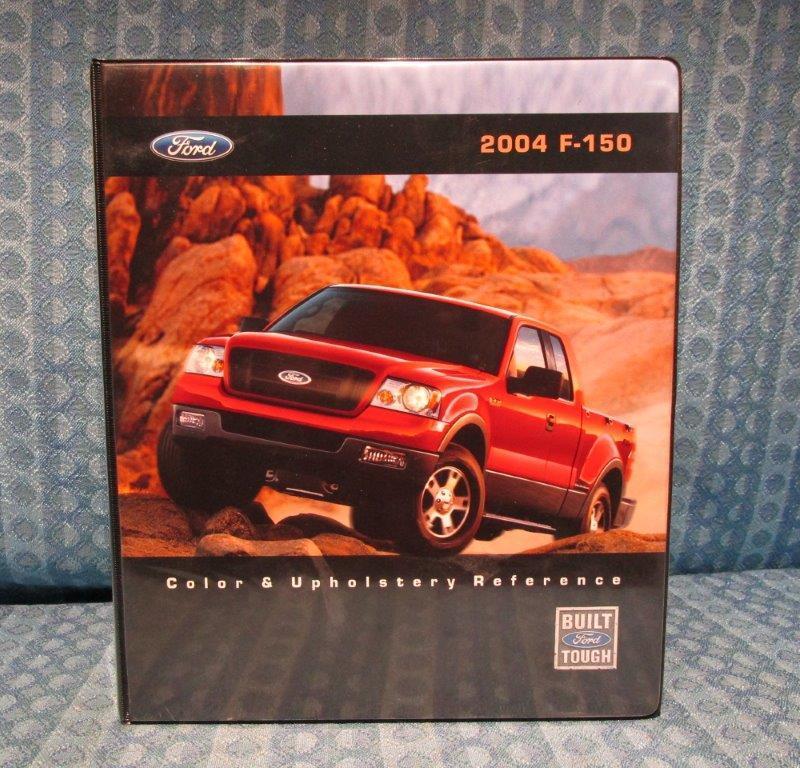 2004 Ford Truck F-150 Orig Dealer Color & Upholstery Reference Book Order Guide
