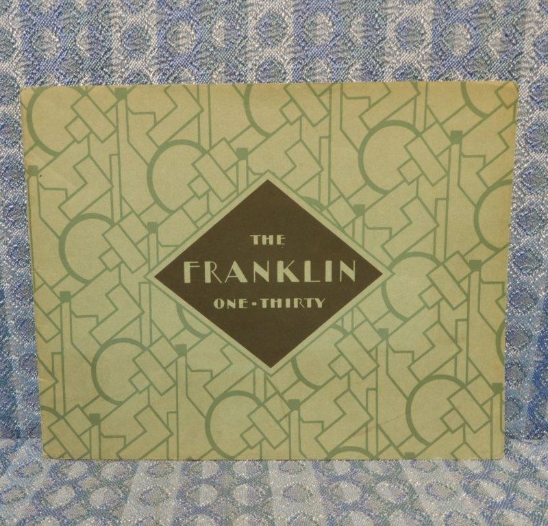 "1929 Franklin Model ""130"" Original Sales Brochure in Color"