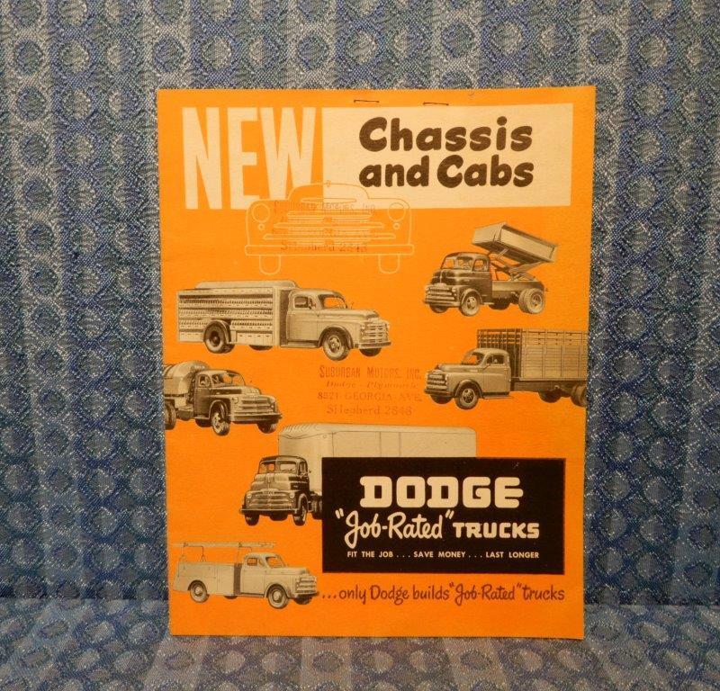 1948-1949 Dodge Truck Cab & Chassis Original Sales Brochure