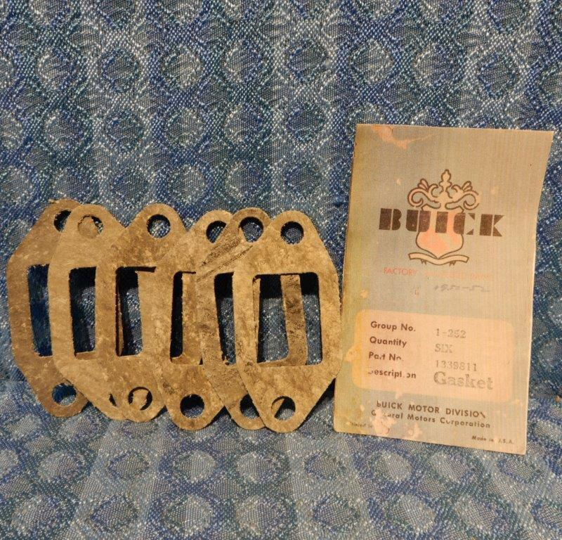 1950-1952 Buick Pkg of 6 NOS Thermostat Housing Gaskets 1953 Special #1339811