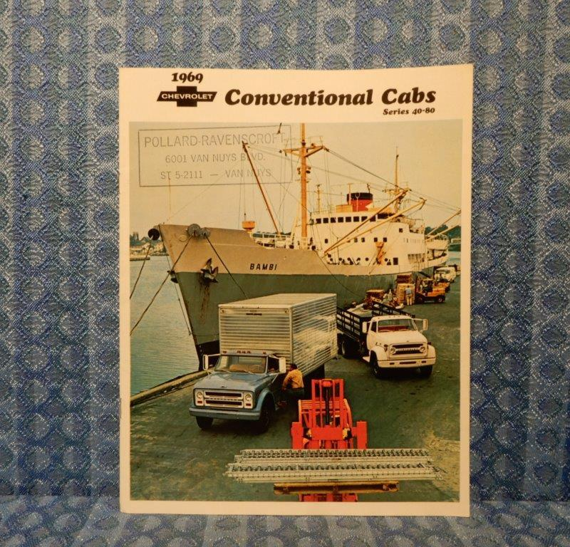 1969 Chevrolet Truck Series 40-80 Conventional Cabs Original Sales Brochure