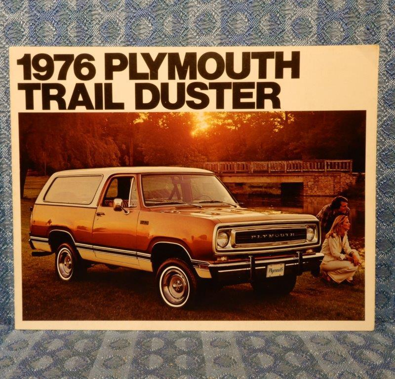 1976 Plymouth Trail Duster Original Sales Brochure