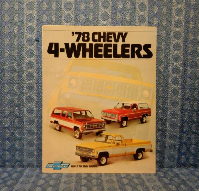 1978 Chevy 4-Wheelers Original Sales Brochure Blazer, Pickup, Suburban