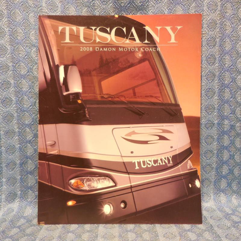 2008 Tuscany Motorhome By Damon Original Sales Brochure