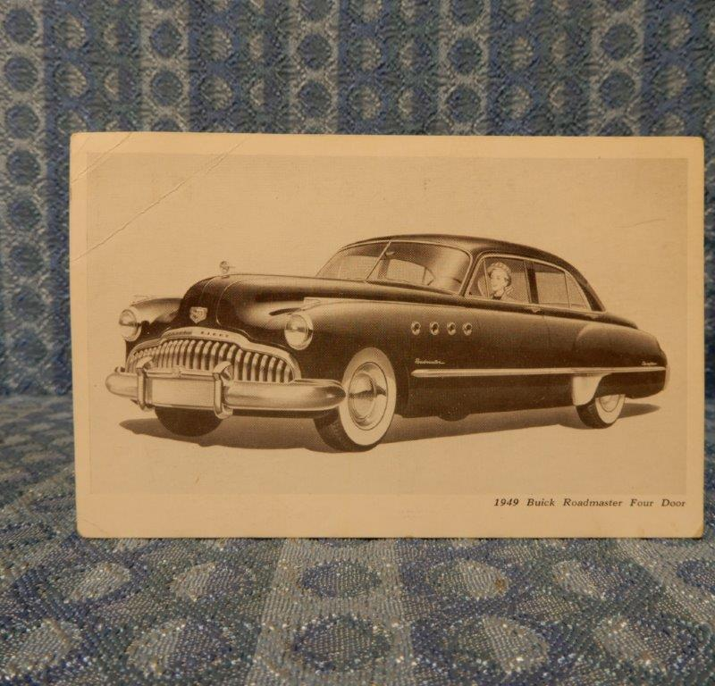 1949 Buick Roadmaster Four Door Original Factory / Dealer Postcard