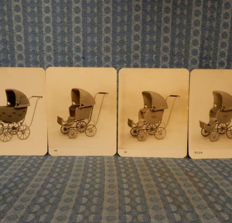 Circa 1928 F.A. Whitney Baby Carriages Original Factory Photos - Set Of 4