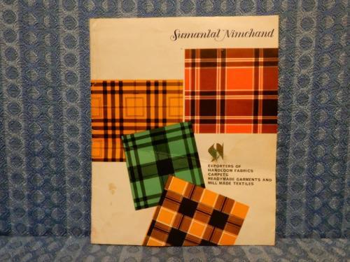 Circa 1960 Hand Woven Silk Sales Sample Folder - Sumanlal Nimchand Exporters