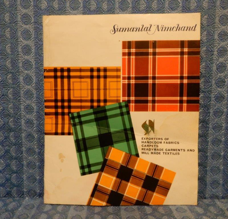 Circa 1960 Hand Woven Silk Sales Sample Folder - Sumanlal Nimchand Exporters