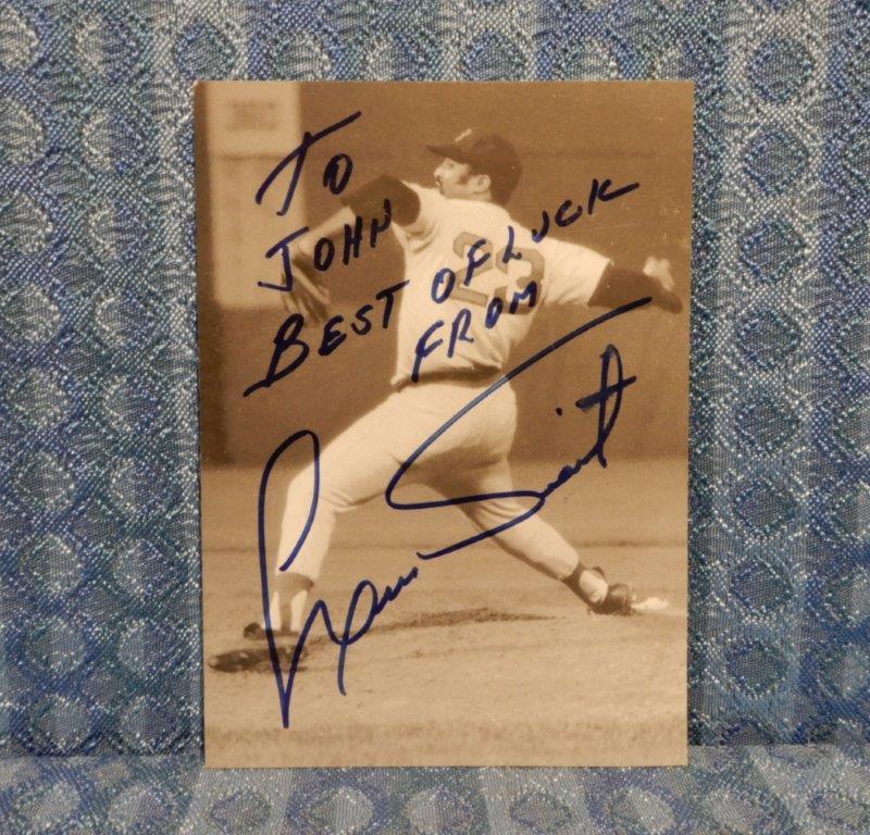 "Original Luis Tiant Autographed 5X8"" Photo, Boston Red Sox #23"