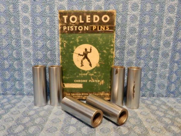 1929-1936 Chevrolet Set of 6 NORS Piston Pins .003 Oversize 1930 31 32 33 34 35
