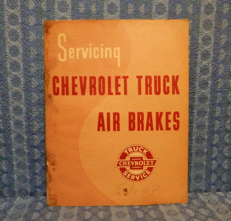 1957 Chevrolet Truck Original Air Brakes Service Manual