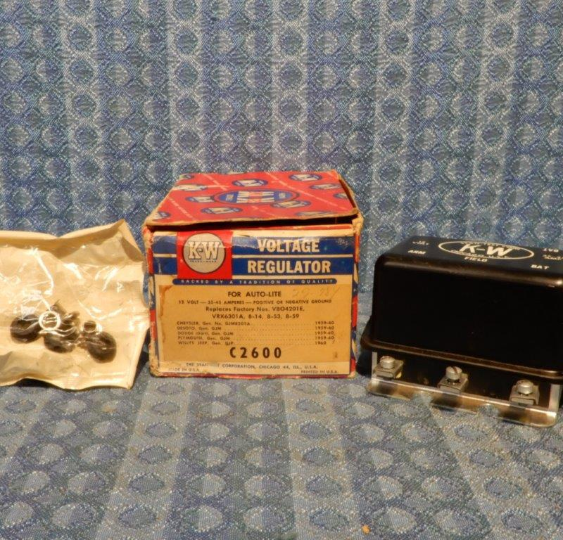1959 1960 Chrysler DeSoto Dodge Plymouth Jeep NORS Voltage Regulator (SEE AD)