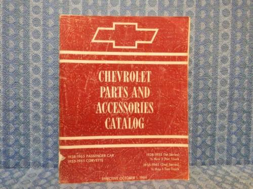 1938-1965 Chevrolet Car & Light Trucks Corvette Original Chassis Parts Catalog