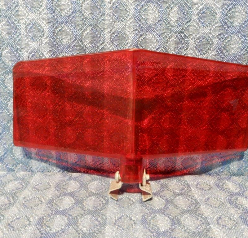 1940-1955 NOS Red Wind Deflector GM Ford Mopar Nash Studebaker Hot Rod Rat Rod