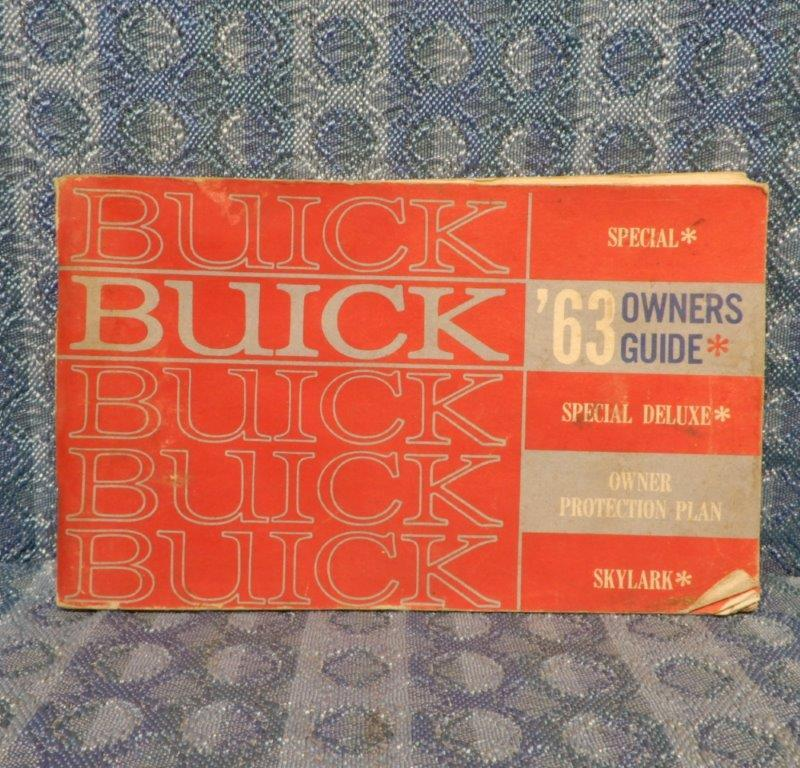 1963 Buick Special, Special DeLuxe, Skylark Original Owners Guide / Manual